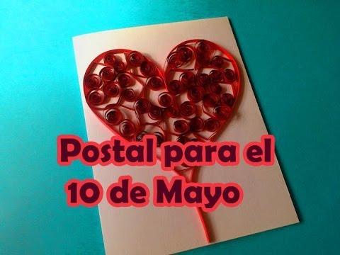 Tarjeta Super Rapida Para El 10 De Mayo Con Filigrana