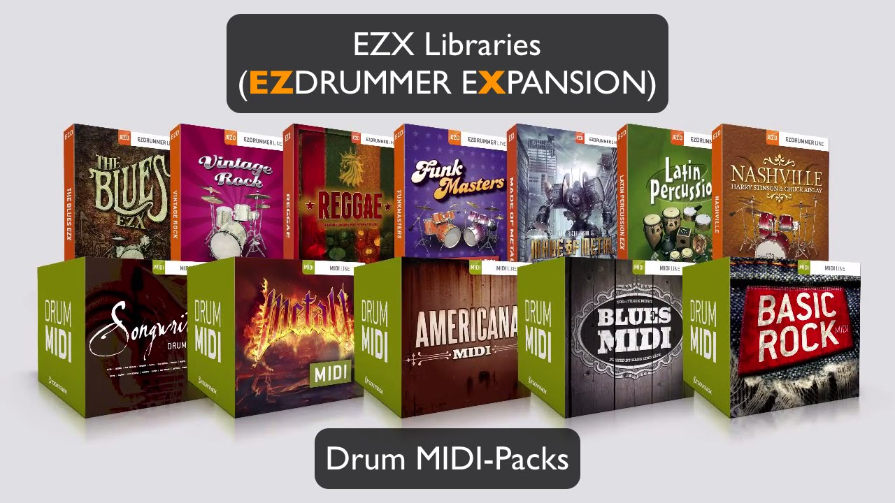 toontrack ezx libraries und drum midi packs youtube. Black Bedroom Furniture Sets. Home Design Ideas