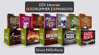 Toontrack EZX Libraries und Drum MIDI Packs