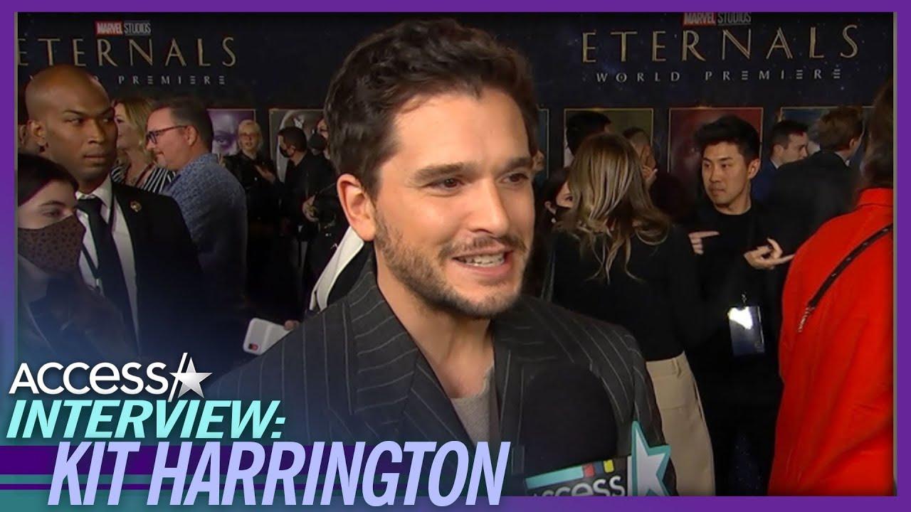Kit Harrington On Leaving 9-Month-Old Son For 'Eternals' Premiere