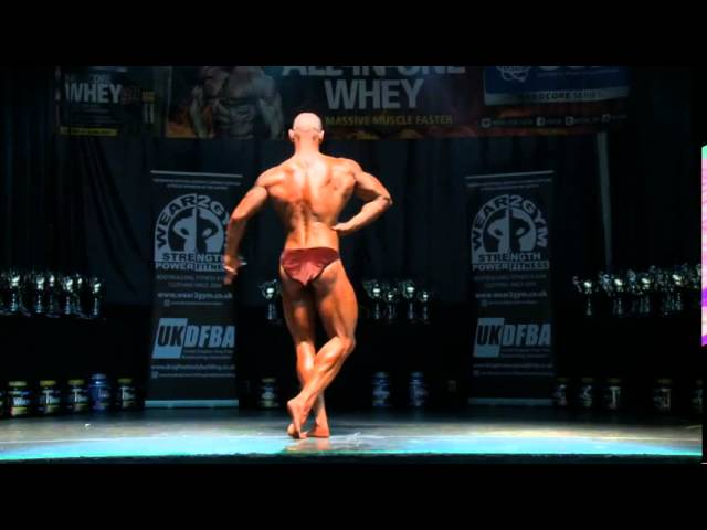 UKDFBA Guest Pose 2014 - Bane routine. Damian Lees 7 weeks out from INBF WNBF Worlds