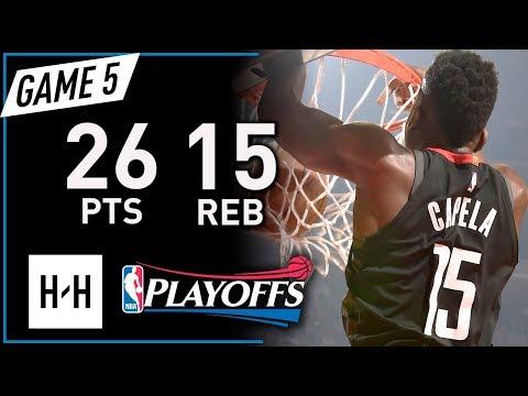 Clint Capela Full Game 5 Highlights Rockets vs Timberwolves 2018 Playoffs - 26 Pts, 15 Reb, BEAST!