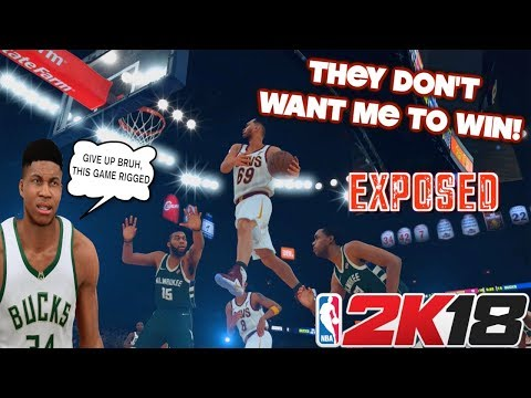 """BOBBY BUCKETS VS. GREEK FREAK:THESE GAMES ARE RIGGED BRUH!( FUNNY """"NBA2K 18""""MYCAREER GAMEPLAY)"""