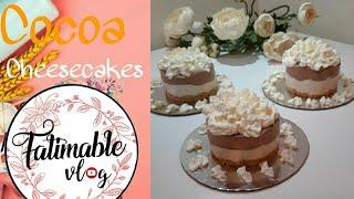 Easy Mini Cocoa Cheesecake    No baked    Eggless