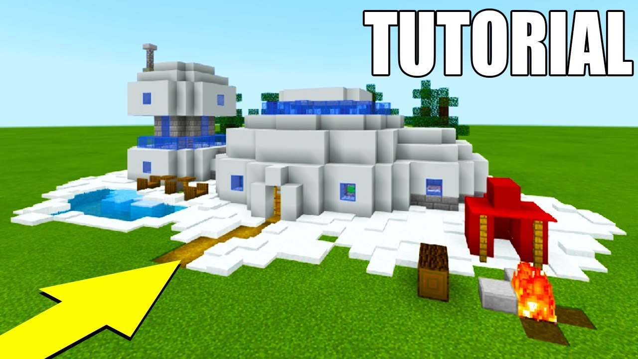 Minecraft Tutorial  How To Make The Ultimate Snow House In Minecraft 2018 Tutorial