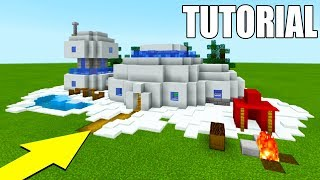 Minecraft Tutorial: How To Make The Ultimate Snow House In Minecraft 2018 Tutorial