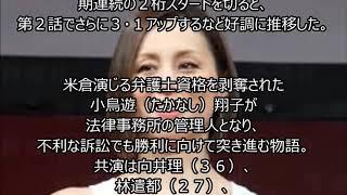 女優の米倉涼子(43)が主演するテレビ朝日「リーガルV~元弁護士・...