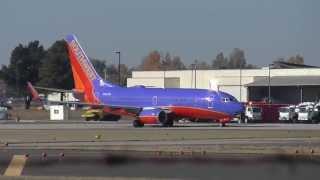 Southwest 737-7H4 Departing Spokane International Airport (KGEG)