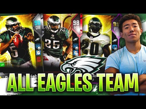 ALL TIME EAGLES TEAM! THE SUPER SQUAD! Madden 19 Ultimate Team