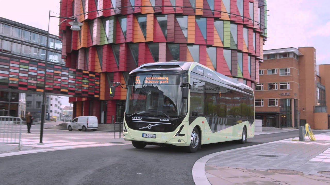 Volvo Electric Bus Gothenburg Route 55 ENG - YouTube