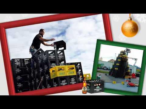 Globus Freilassing & Brauerei M.C. Wieninger bauen einen besonderen Weihnachtsbaum