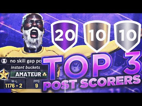 TOP 3 BEST POST SCORER ARCHETYPE BUILDS in NBA 2K19...😔 100% NEED TO BE PATCHED!!!!!!!!!!!!!!!!!!!!