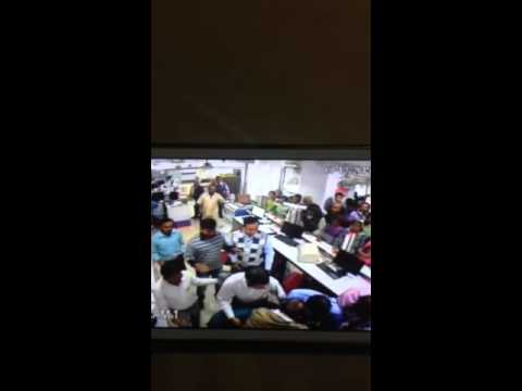 Banker And Costumer fight in Bank