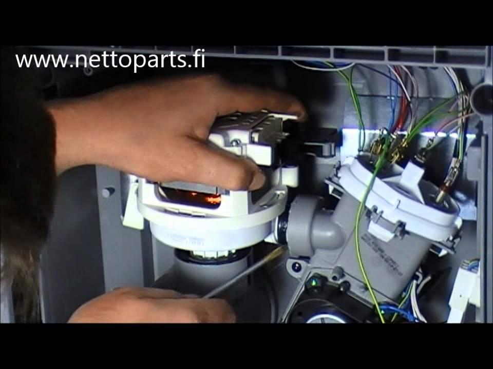 video opas vaihda astianpesukoneen kiertovesipumppu n in teet sen youtube