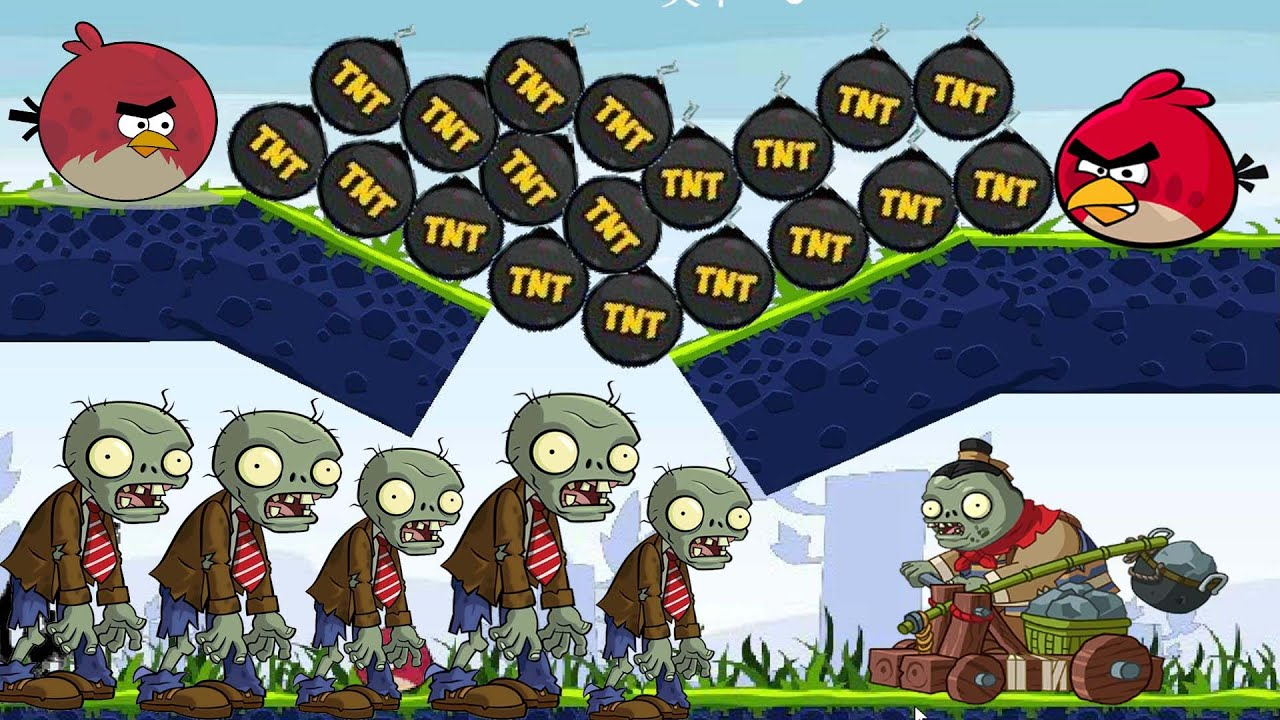 Angry Birds Fry Zombies - DROP GIANT TNT BOMB TO BURN ZOMBIES! KICKING TNT  TO EXPLODE ZOMBIE! - YouTube