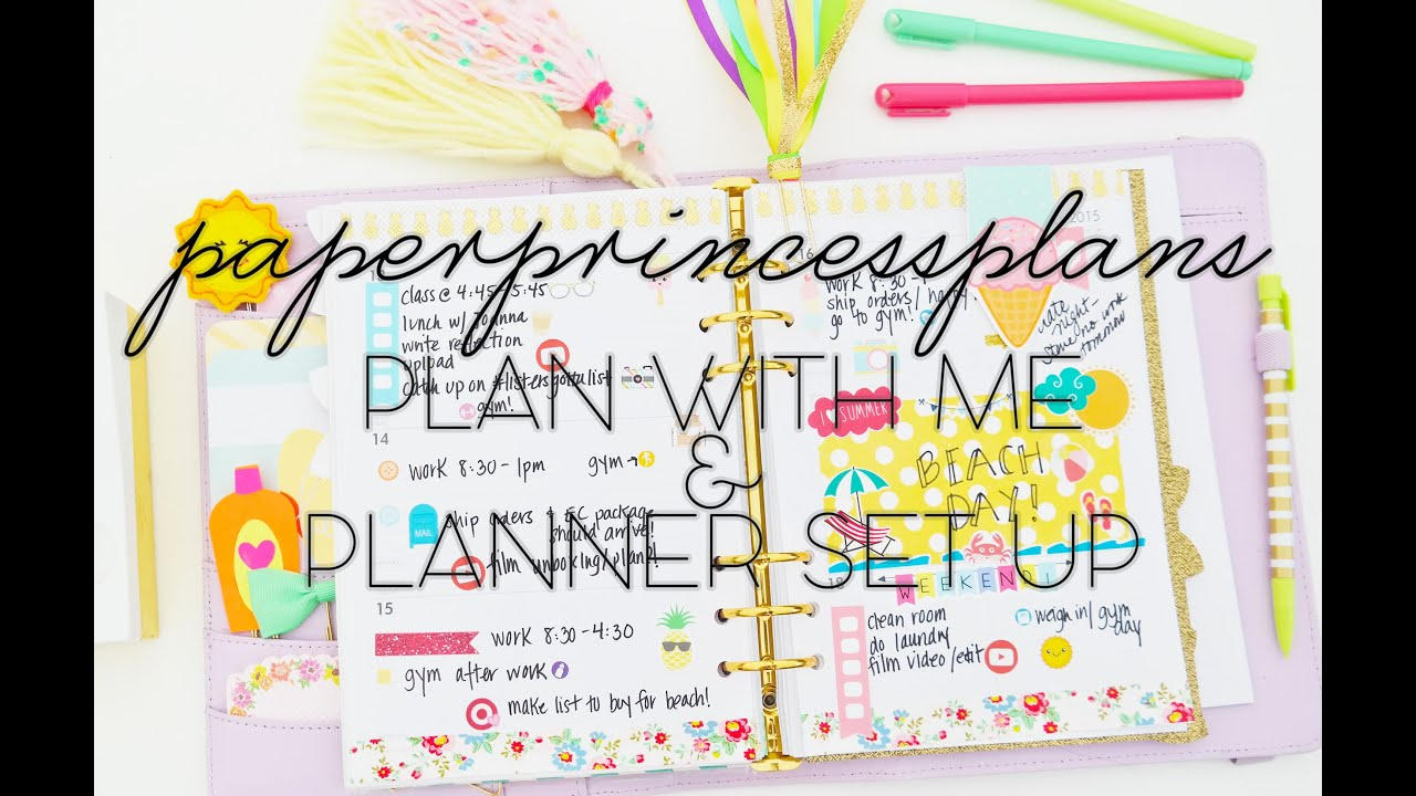 Plan with me 2 planner set up in my kikki k youtube for Plan me