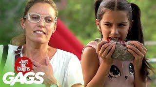 Little Girl Caught Eating a Rat