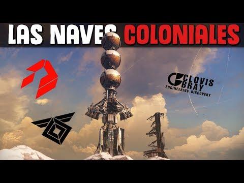 Lore Destiny | La Historia De Las NAVES COLONIALES | Clovis Bray, Rasputin, SIVA...