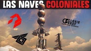 Lore Destiny   La historia de las NAVES COLONIALES   Clovis Bray, Rasputin, SIVA...