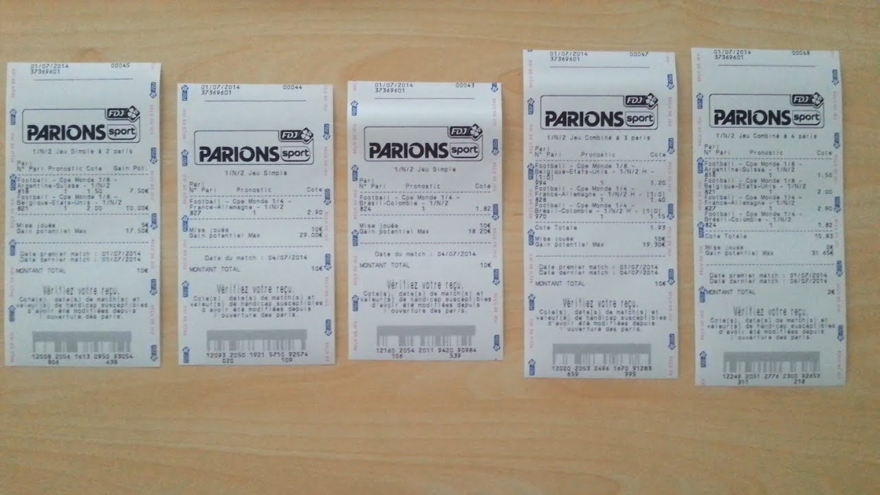 ticket parions sport