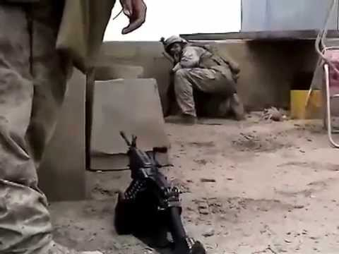COMBAT FOOTAGE! Firefight in Ramadi, Iraq