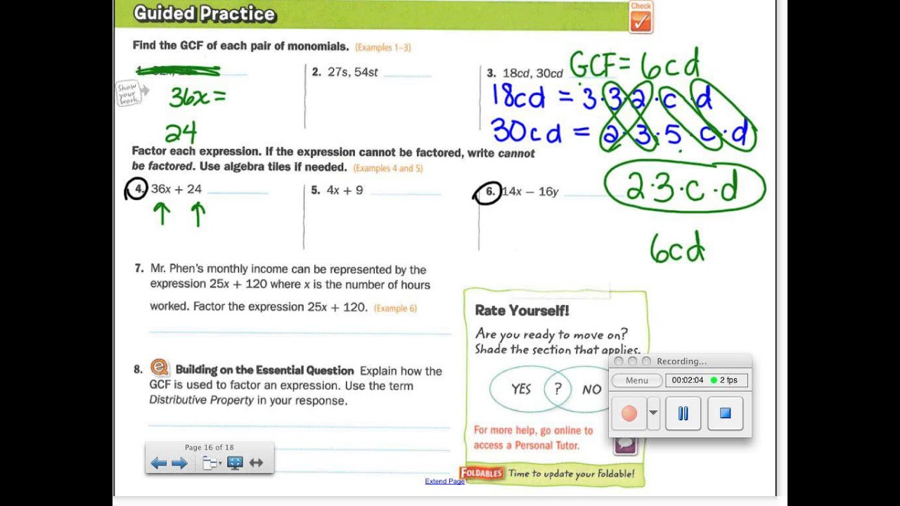 5-8 factor linear expressions - YouTube