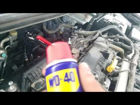 Removing an upstream oxygen sensor from a 2011 Hyundai Elantra.