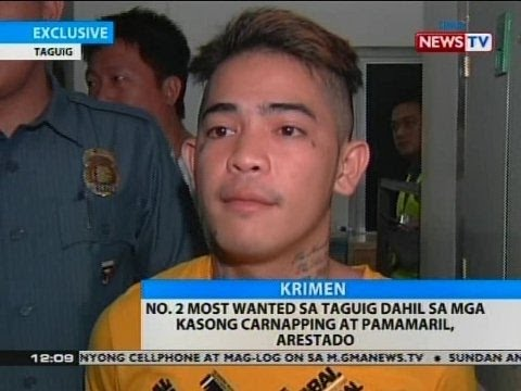 BT: No. 2 most wanted sa Taguig dahil sa mga kasong carnapping at pamamaril, arestado