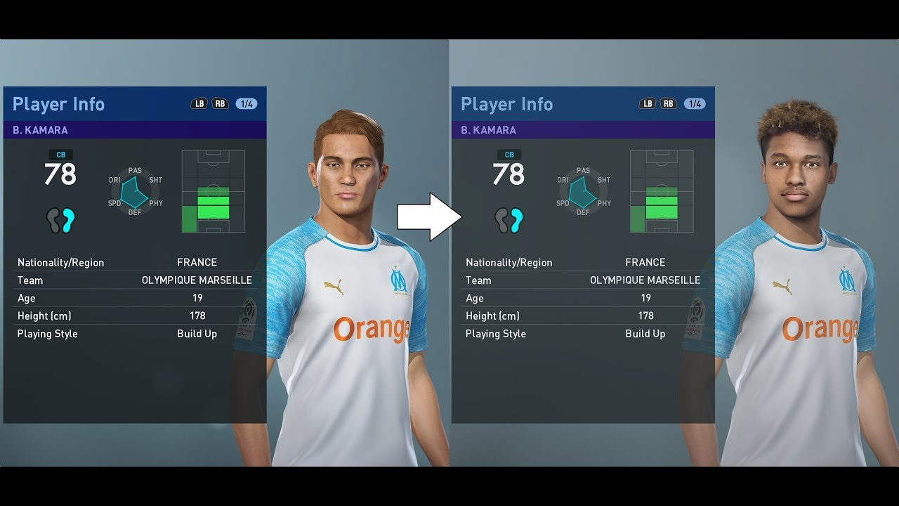 PES 2019 facepack part 4 - Ligue 1 100+ real faces added (PC)
