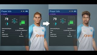 PES 2019 facepack part 4 - Ligue 1 70+ real faces added (PC)
