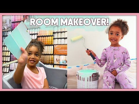 Decorating Ziya's Room! | Kids Bedroom Makeover