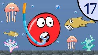 Новый Несносный КРАСНЫЙ ШАР #17. Водный мир. Мультик ИГРА New Red Ball 2 на Игрули TV