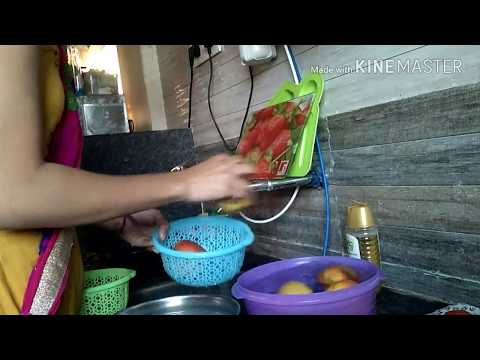 vegetable cleaning and storing   coriander  garlic  onion  tomato  garlic  curry leave
