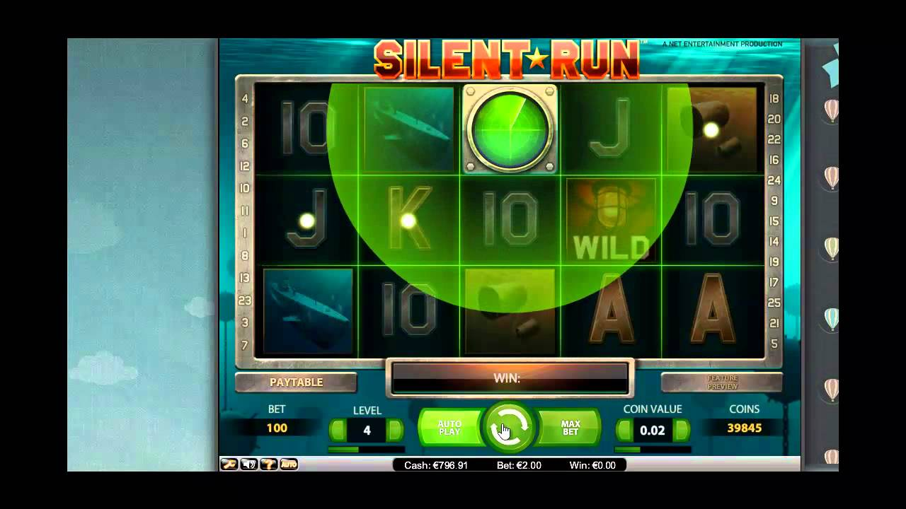 Silent Run from Netent – 2 Euro Session – Mega Big Win [Wintime.us]