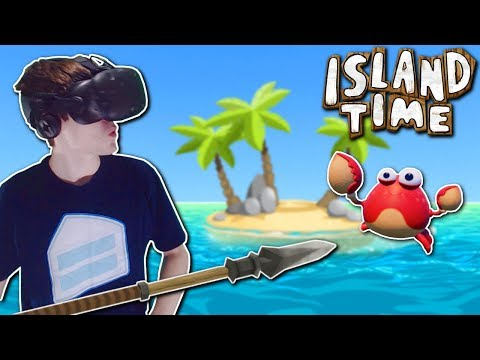 SURVIVING ON ISLAND WITH A TALKING CRAB!? – Island Time Gameplay – VR Island Survival Game!