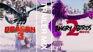 Trailer Mix | THE ANGRY BIRDS MOVIE 2 Trailer and HOW TO TRAIN YOUR DRAGON 3 Trailer