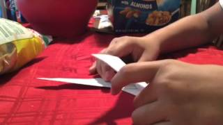 Origami triple ninja star !!!!! Tutorial