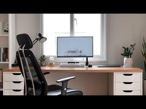 Bàn làm việc tối giản của mình | My Minimalist Desk Setup