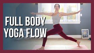 30 min Intermediate Full Body Yoga - Vinyasa Yoga NO PROPS