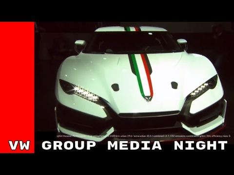 VW Group Media Night at the Geneva Motor Show