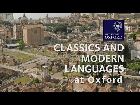 Classics and Modern Languages at Oxford University
