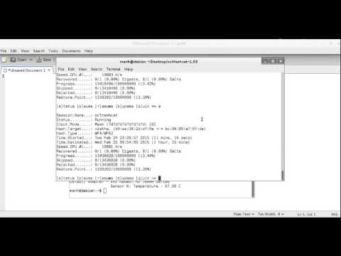 Cracking WPA2 WPA with Hashcat in Kali Linux (BruteForce MASK based