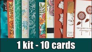 1 kit - 10 cards   SSS October card kit & GIVEAWAY
