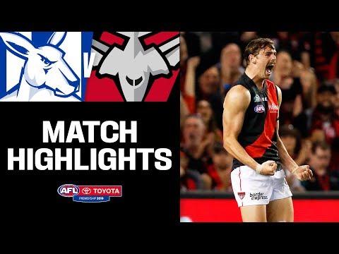 Daniher returns for Good Friday | North Melbourne v Essendon Highlights | Round 5, 2019 | AFL