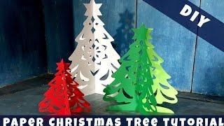 Alison's 3D Paper Christmas Tree Tutorial DIY