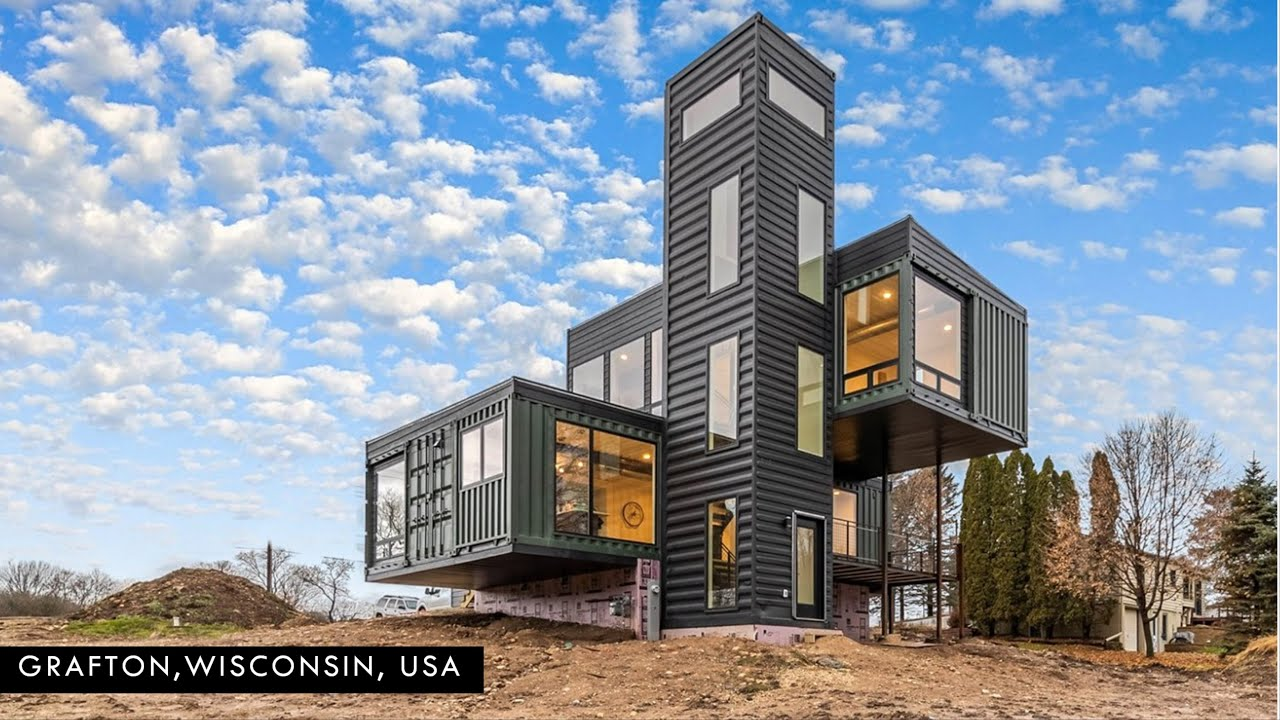Gorgeous Shipping Container Home in Grafton, Wisconsin, USA