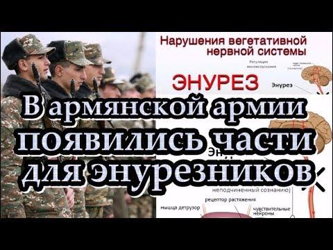 В армянской армии появились части для энурезников