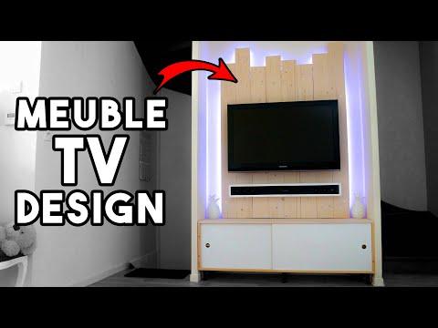 Fabriquer Un Meuble Tv Et Cacher Tous Les Cables Youtube