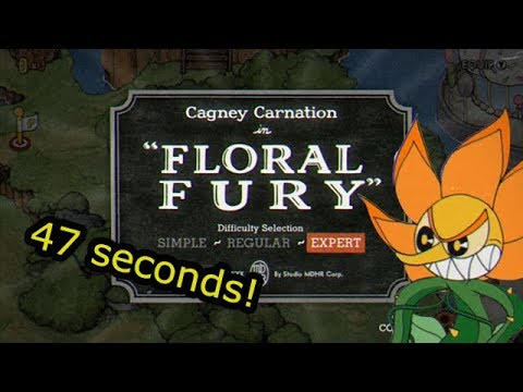 Cuphead Glitchless Speedrun: Floral Fury (0:47)