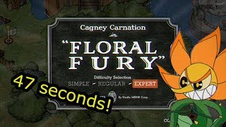 Cuphead Glitchless Speedrun Floral Fury 0 47